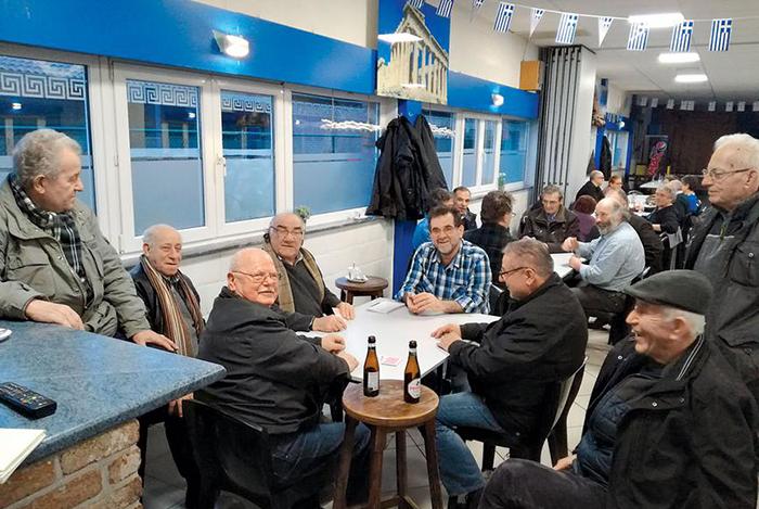 Το στέκι της Ελληνικής Κοινότητας στο Γκενκ.