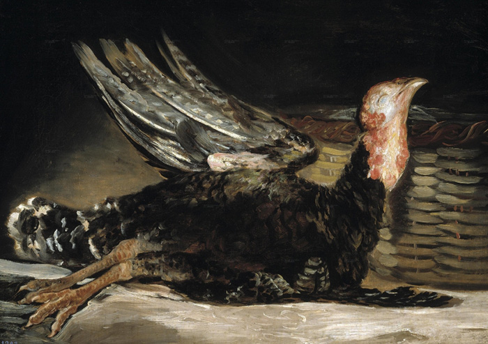 Francisco de Goya, νεκρή γαλοπούλα, 1808 – 1812, λάδι σε καμβά, 45x62 cm © Museo Nacional del Prado