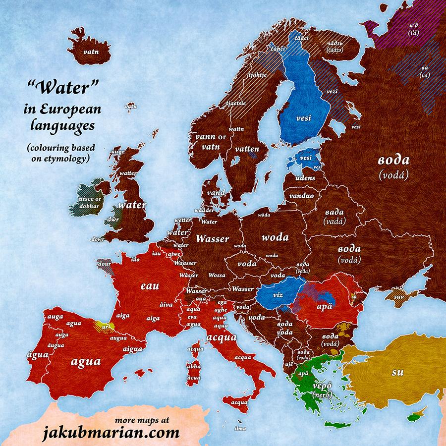 water-european-languages