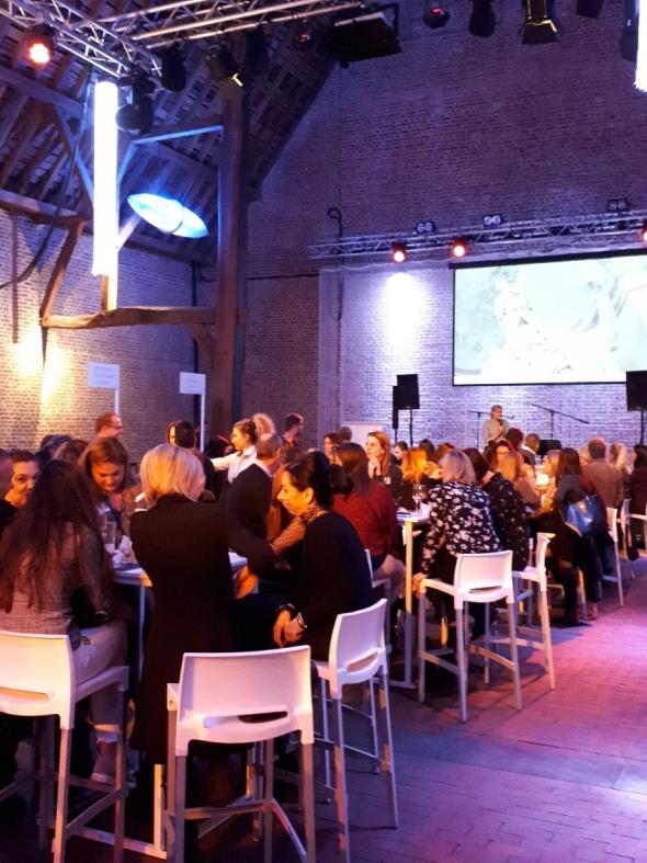 Στιγμιότυπο από το networking dinner, κατά τη διάρκεια της εκδήλωσης στο Hasselt του Βελγίου