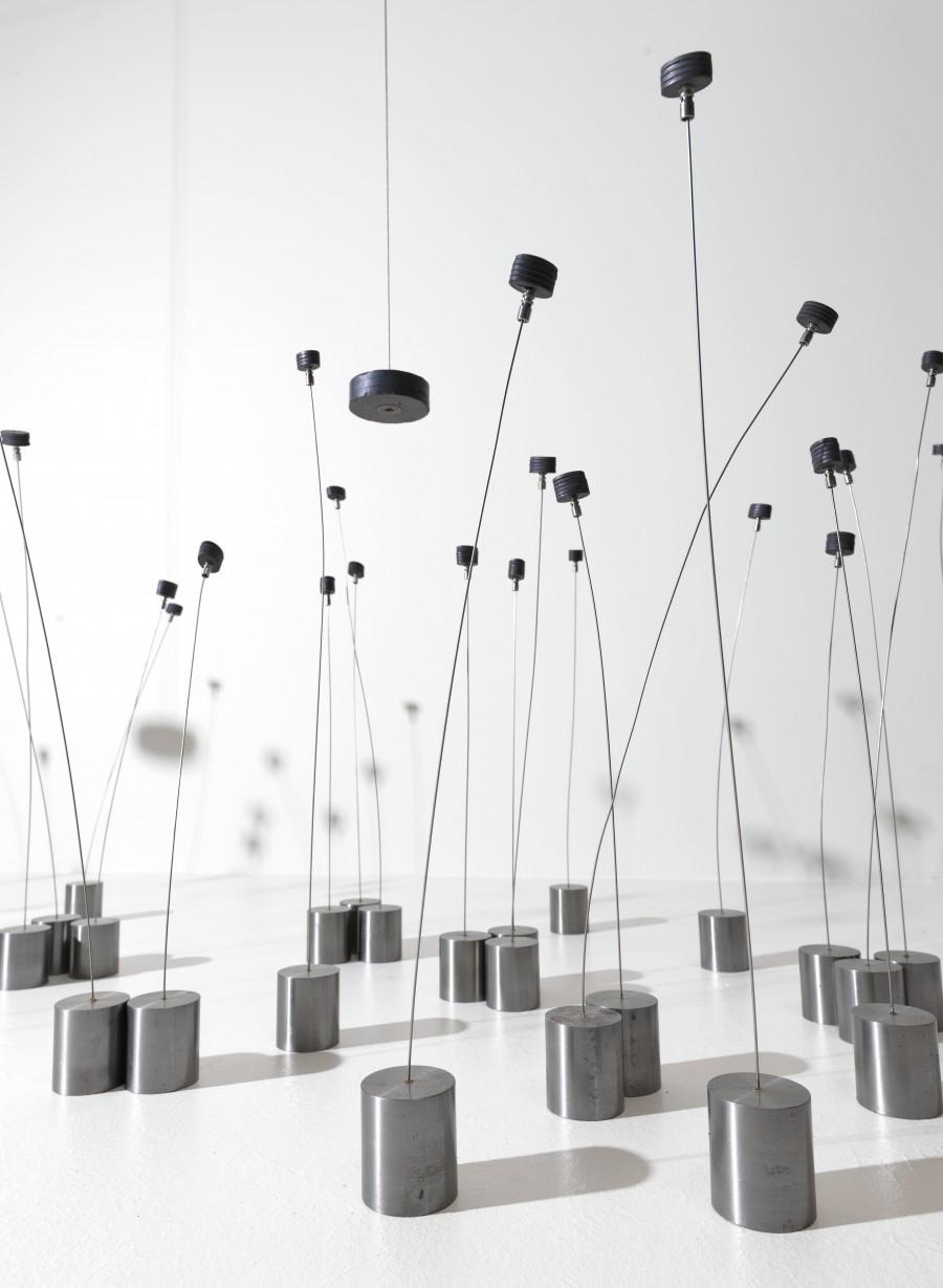 Takis Magnetic Fields (detail) 1969 Metal, magnets 63.5 × 426.7 × 914.4 cm Solomon R. Guggenheim Museum, New York © ADAGP, Paris and DACS, London 2019