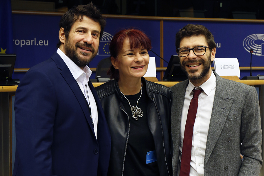 Αλ. Γεωργούλης, Μόνικα Τσιλιμπέρδη, Νικόλας Γιατρομανωλάκης