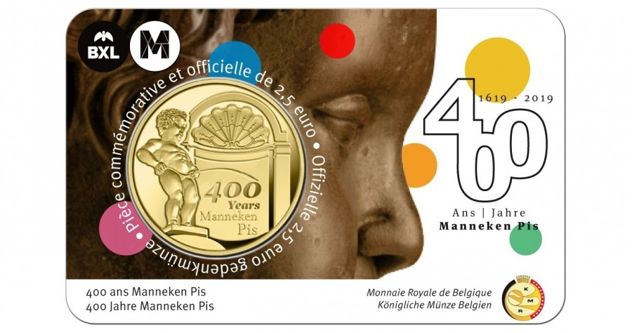 manneken pis 400 years coin