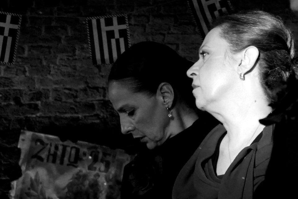 "H Μαρία Χούλη στην παράσταση ""και αν θα διψάσεις για νερό…"" (Λύκειο Ελληνίδων Βρυξελλών)"