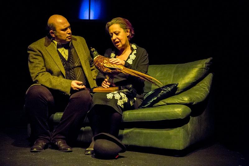 """H Μαρία Χούλη με τον Γιώργο Μαγκλή στην παράσταση """"Ο Άστεγος τ' Ουρανού"""" (Λύκειο Ελληνίδων Βρυξελλών)"""