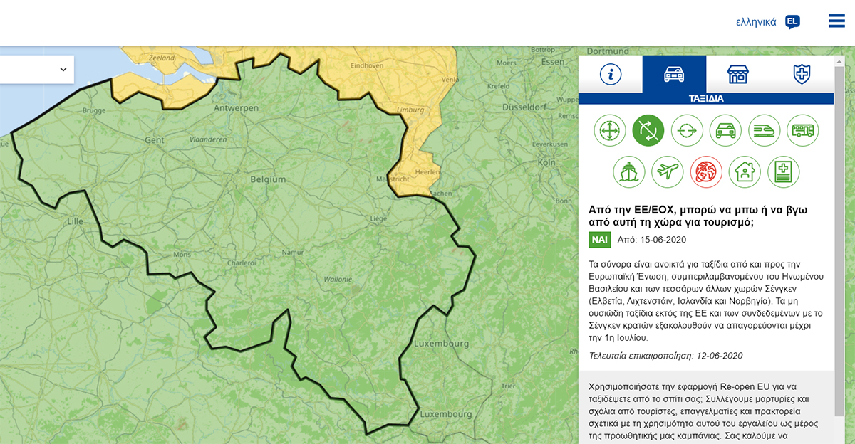 belgium reopen eu site