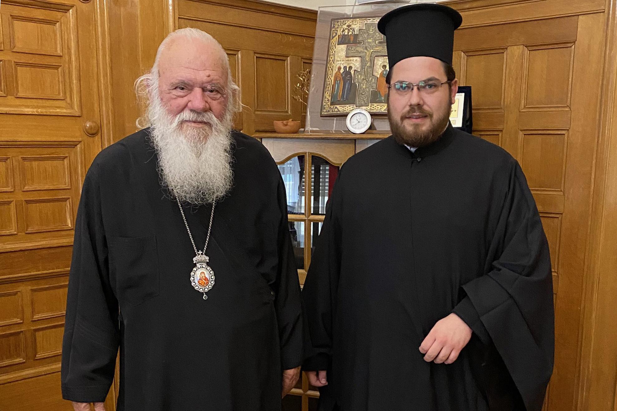 Ο Αρχιμανδρίτης Φιλάδελφος Καφαλής με τον Αρχιεπίσκοπο Αθηνών και πάσης Ελλάδος κ. Ιερώνυμο