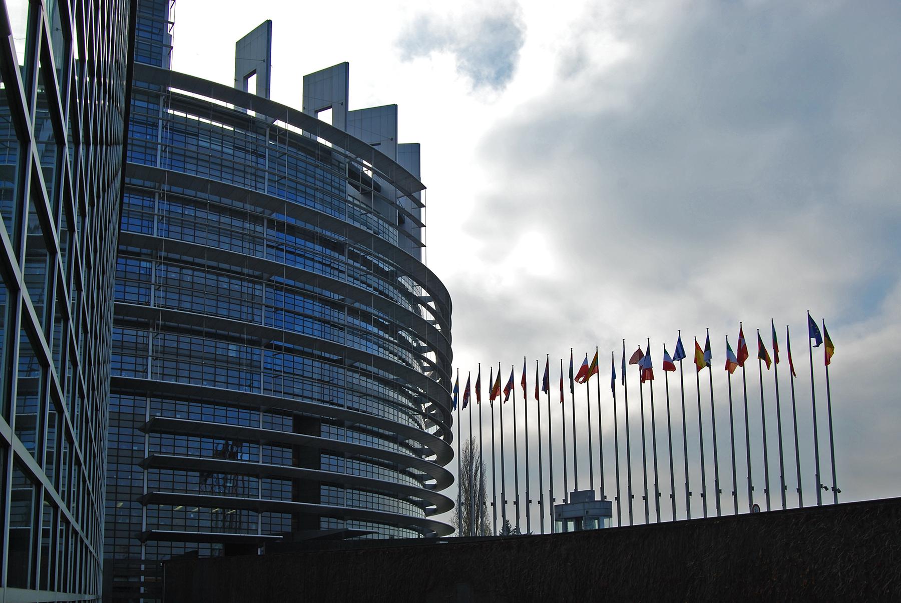 Το κτίριο του Ευρωπαϊκού Κοινοβουλίου στο Στρασβούργο