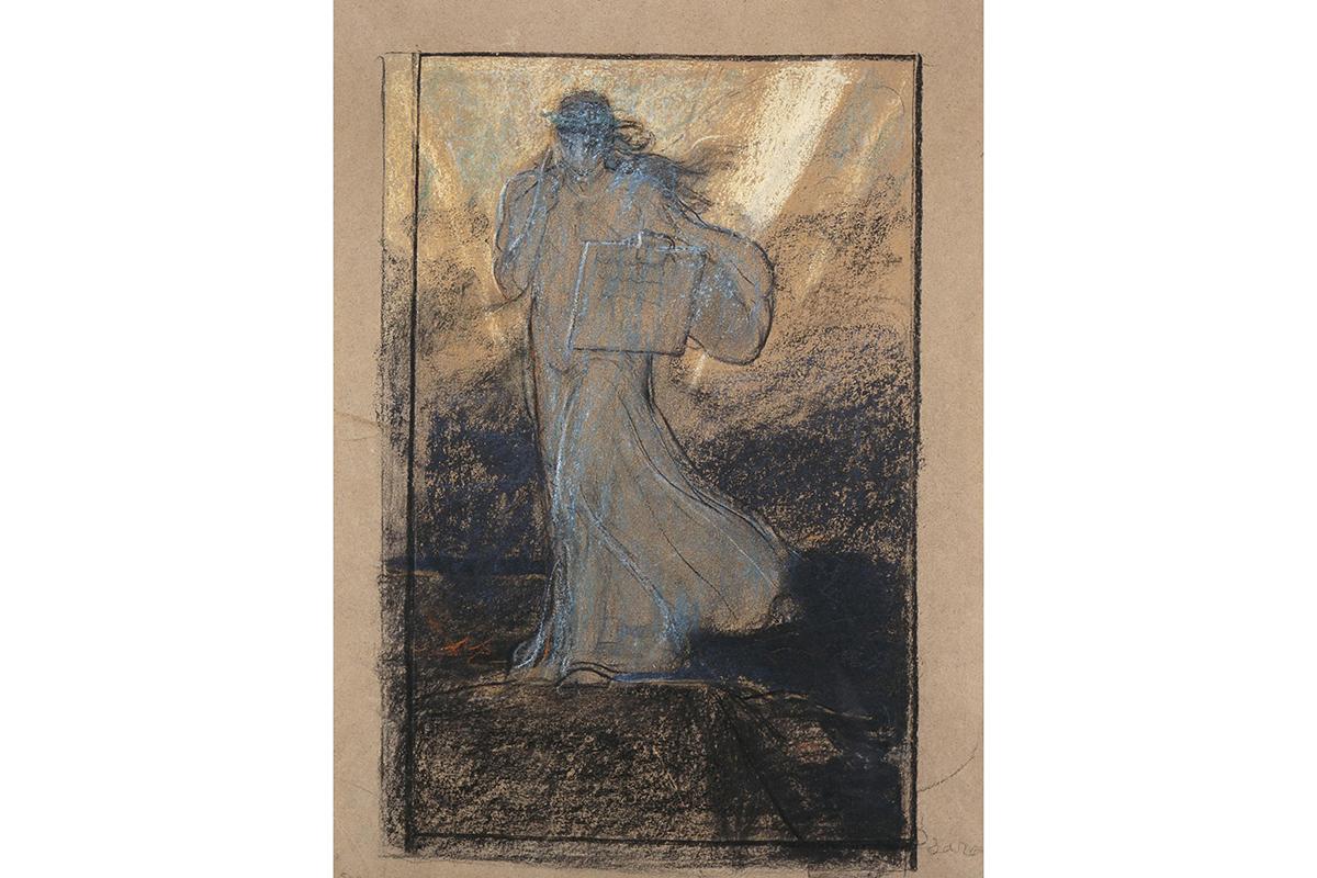 Νικόλαος Γύζης, Η Δόξα των Ψαρών, 1898. Παστέλ σε χαρτί, 38 x 24 εκ.