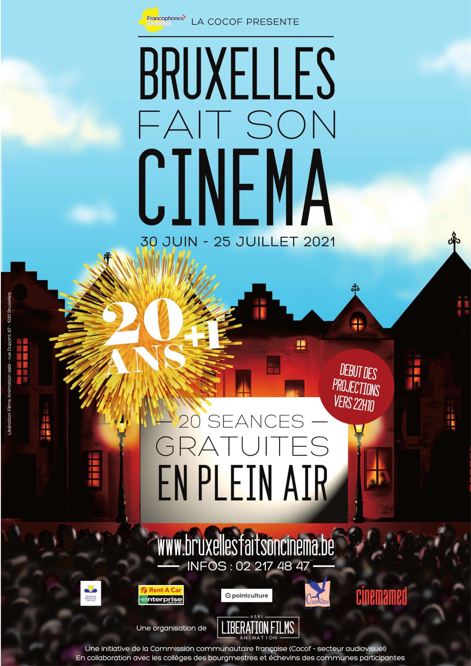 Bruxelles fait son cinéma 2021 poster affiche